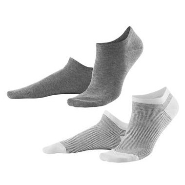 Sneaker socks in organic cotton -  pack of 2