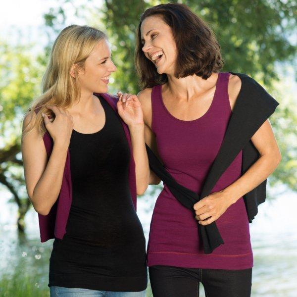 Woman sleeveless vest wool/silk
