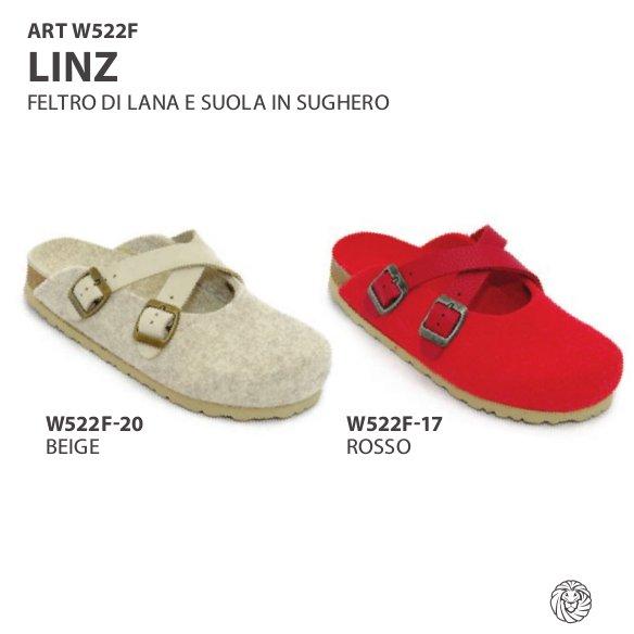 Woman slipper Linz in wool felt
