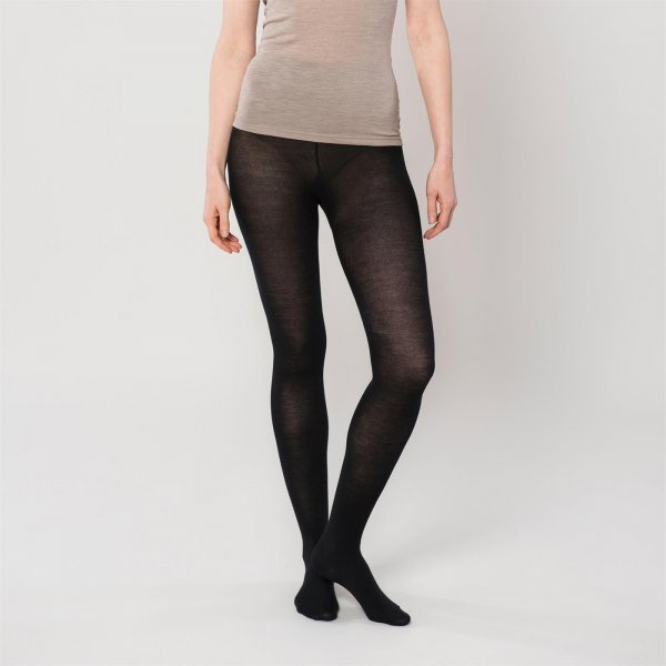 Women's tights on wool silk and organic cotton