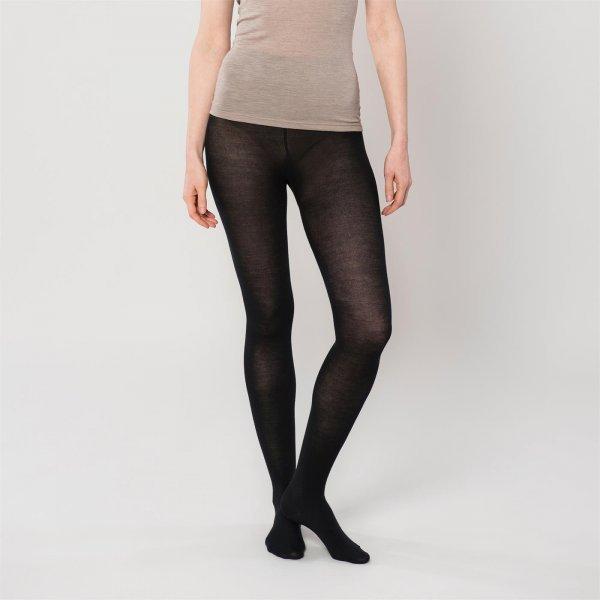 Women's tights on wool silk and organic cotton