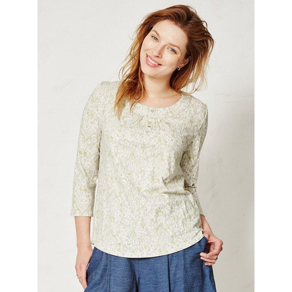 Woman top Lantana in organic cotton