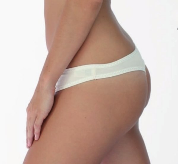 Woman v-string in bamboo