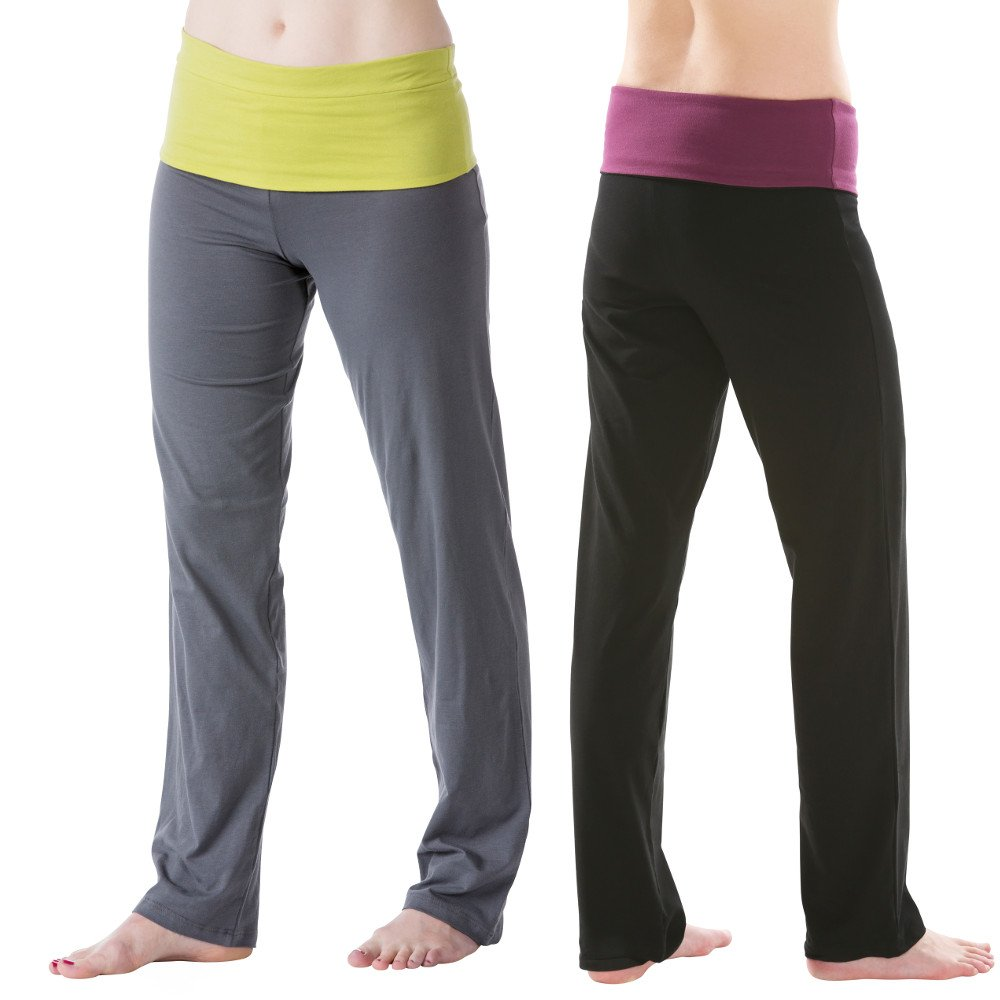 Woman yoga pants in organic cotton.
