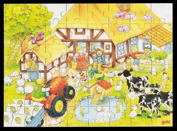 Wooden puzzle 48 pieces