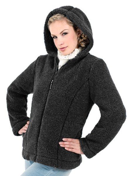 Wool woman jacket with hood